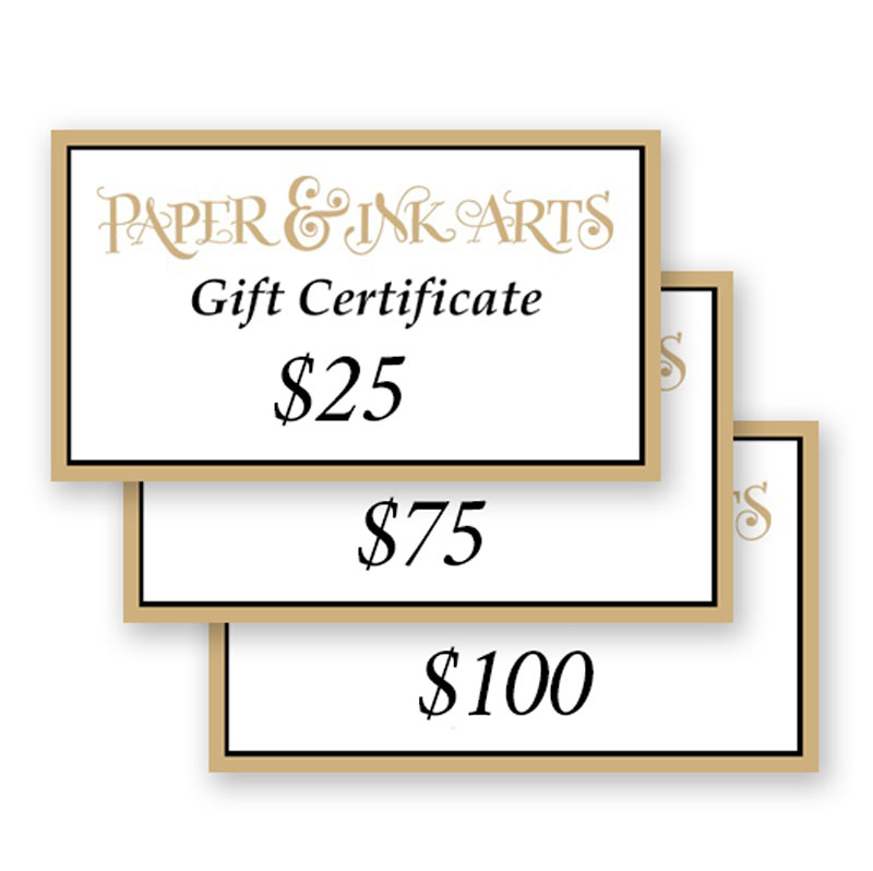"<p><strong><a href=""https://tinyurl.com/yam8nlx7"" target=""_blank"">Paper Ink Arts Gift Certificates</a></strong>$25+</p>"