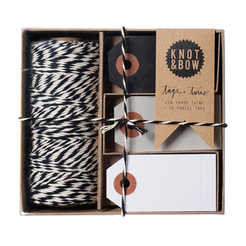 "<p><strong><a href=""https://tinyurl.com/ybgtrlmt"" target=""_blank"">Knot & Bow Tags & Twine Kit</a></strong>$20.00</p>"