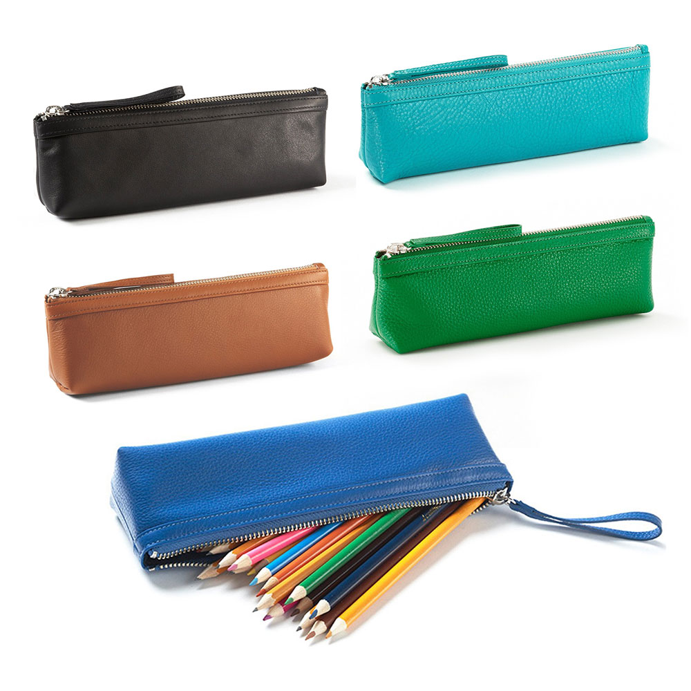 "<p><strong><a href=""http://amzn.to/2zrDnyN"" target=""_blank"">Full Grain Leather Pen Case</a></strong>$45.00</p>"