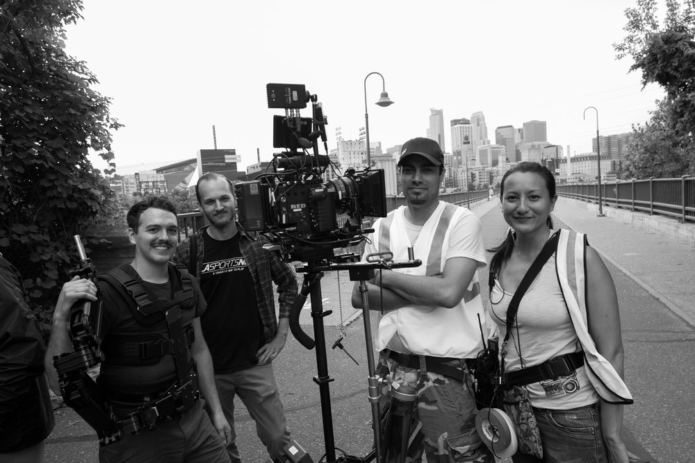 Camera Department Left to right: Jesse Meehl, Vaughn Potter, Mark Hobz, Frederique Imbert (me)