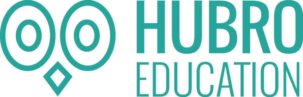 Hubro logo horisontal to linjer turkis (1).png