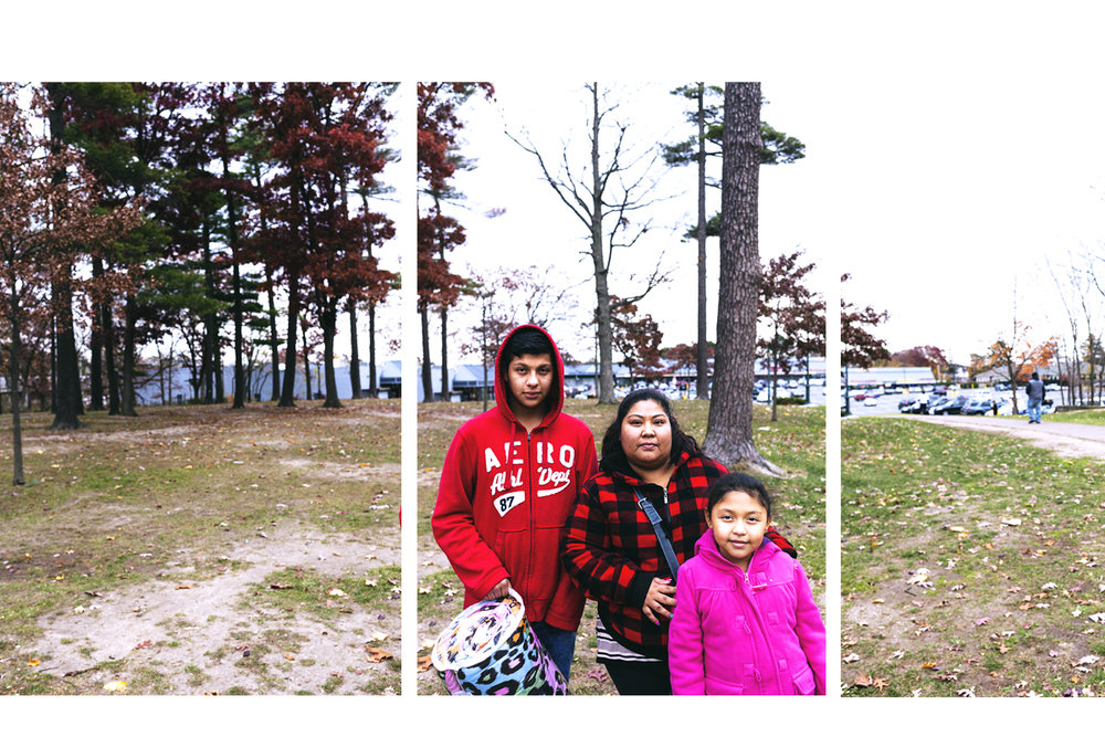"""We're alive and God has given us a good life here"", said the Paz family, who are of Guatemalan descendant. Brentwood, NY. November, 2016."