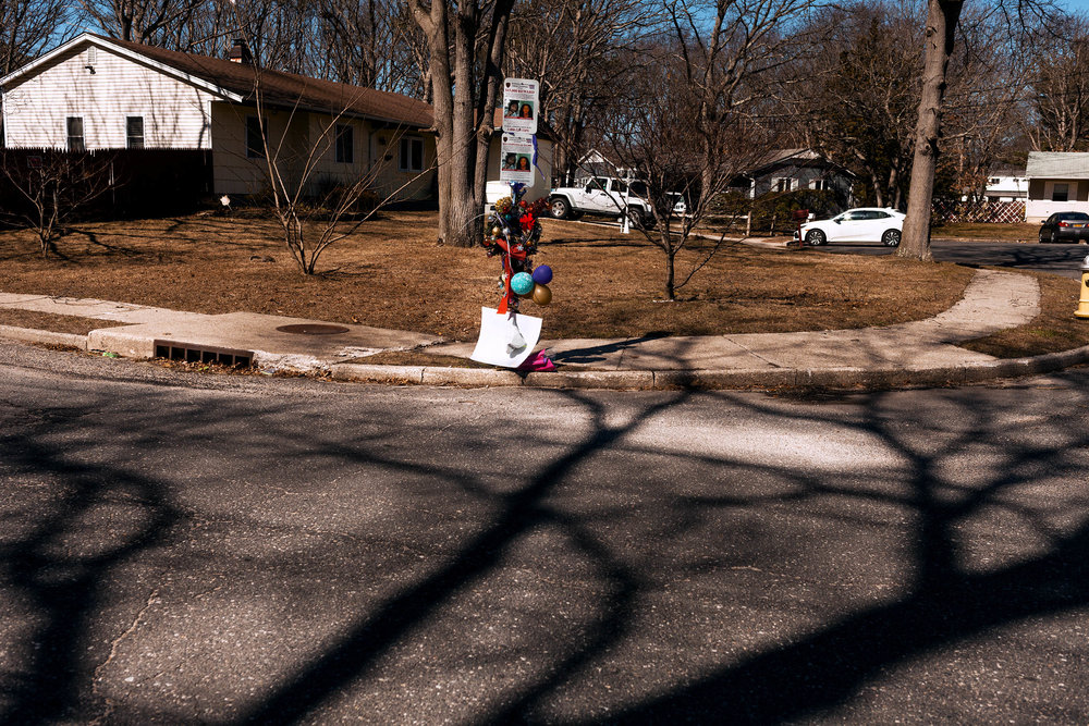 Nisa Mickens and Kayla Cueva's memorial in Brentwood, Long Island.