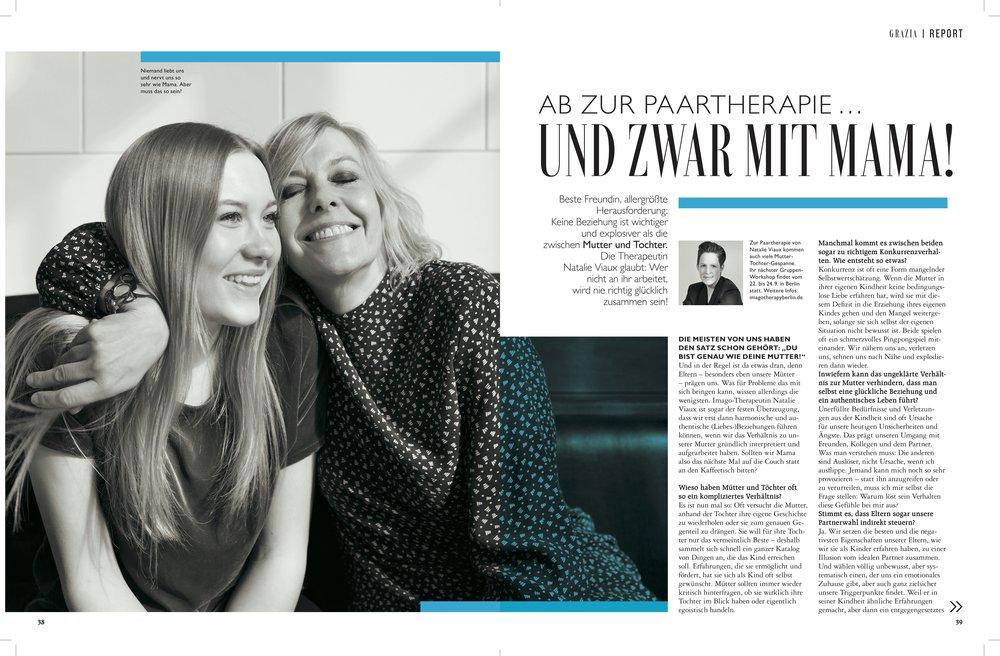GRAZIA, Heft 22/17: Ab zur Paartherapie – und zwar mit Mama!