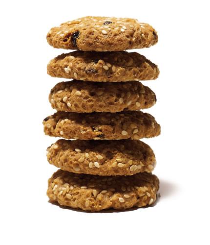 pila biscotti artigianali sesamo avena uvetta