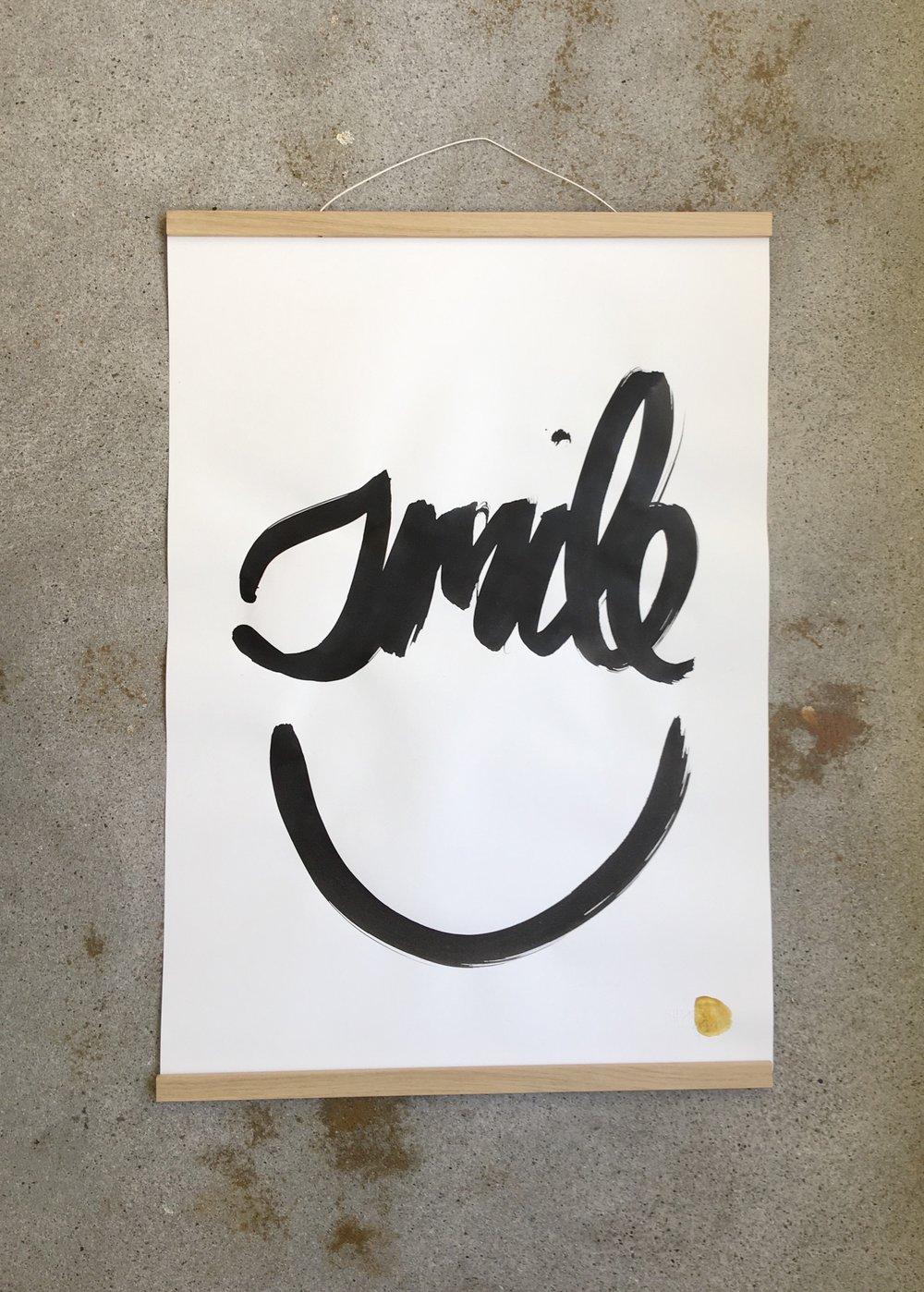 Poster Large  Tusche auf Papier / 50 x 65 cm / 300 g