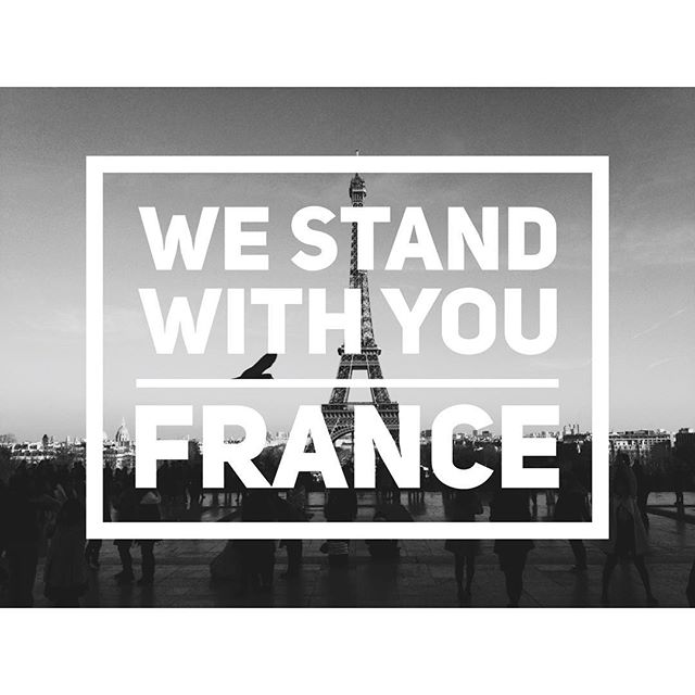 We stand with you France 🇫🇷 #westandwithfrance #prayforfrance #france #Godiswithyou #saynototerrorism