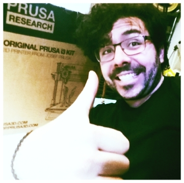 Alex G. Orphanos Owner & Operator of AG3D PRinting  Here's a picture of me in front of our newest 3D Printer to join the fleet! The PRUSA i3 MK2