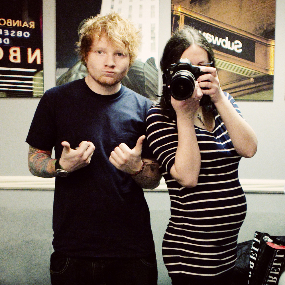 4 months pregnant, shooting Ed Sheeran for Rolling Stone