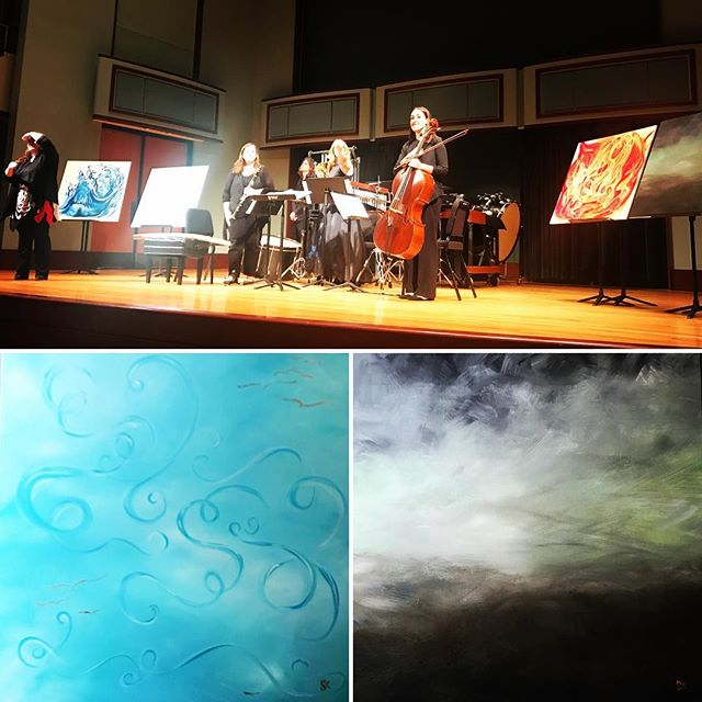 Today my paintings were part of an amazing young composer's recital. I feel so privileged to have been a part of such a wonderful event❤️ #uofdelaware #udmusic