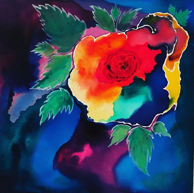 High chroma watercolor  on encaustic board #drphmartinswatercolor