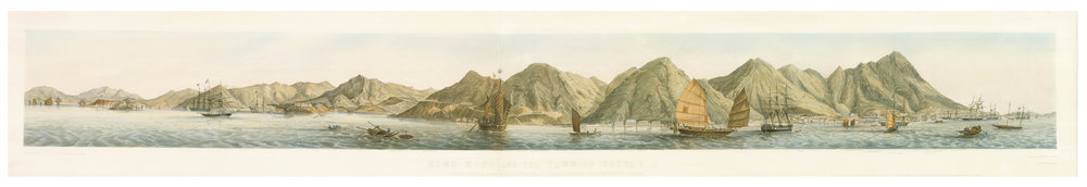 Walker, after Bellairs. Hong Kong and the Town of Victoria...  1851