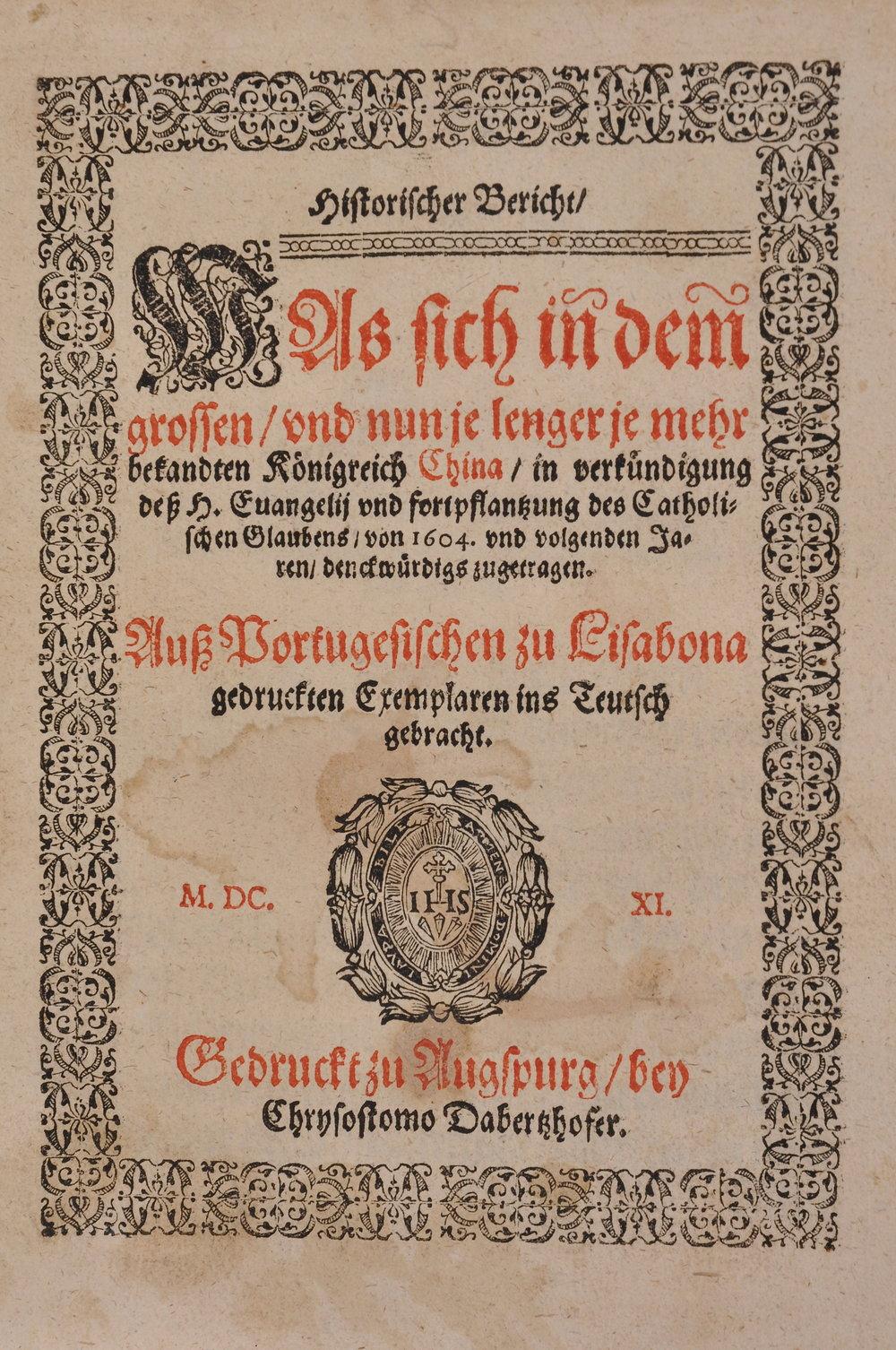 Guerreiro and Ricci. Historischer Bericht... 1611