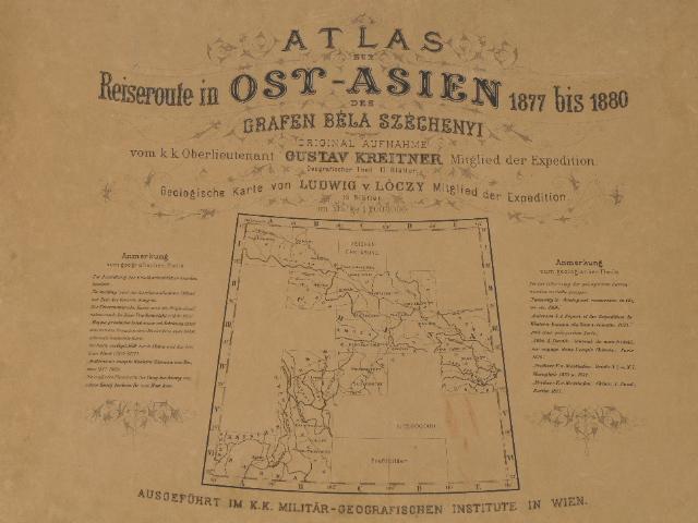 Szechenyi,Atlas zur Reiseroute in Ost-Asien, circa 1884