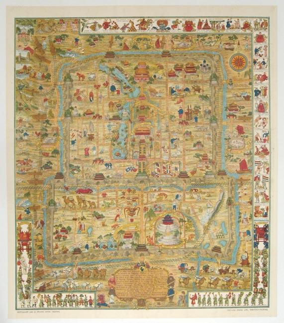 A Map and History of Peiping,Tientsin-Peiping,1936