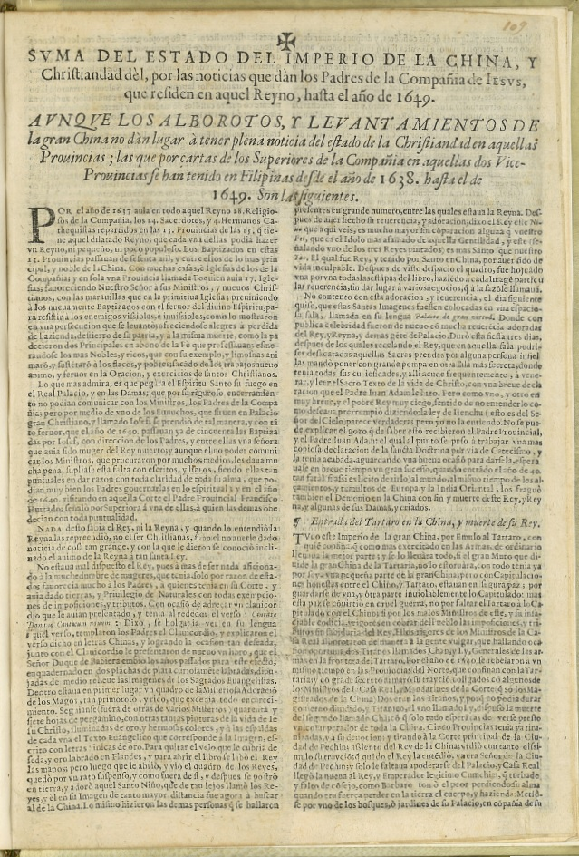 Koffler, Suma del Estado del Imperio de la China...., 1651