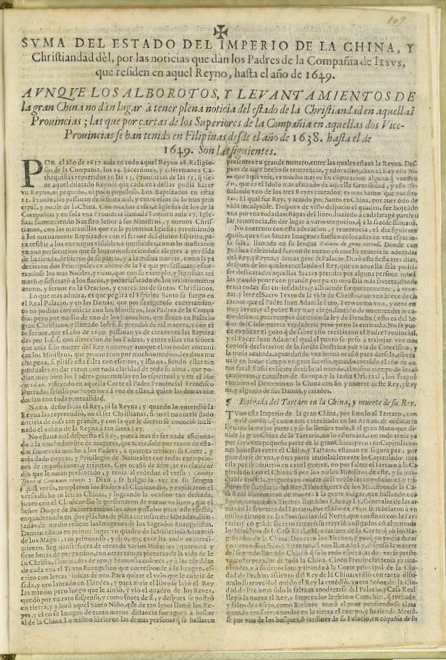 Koffler,Suma del Estado del Imperio de la China...., 1651