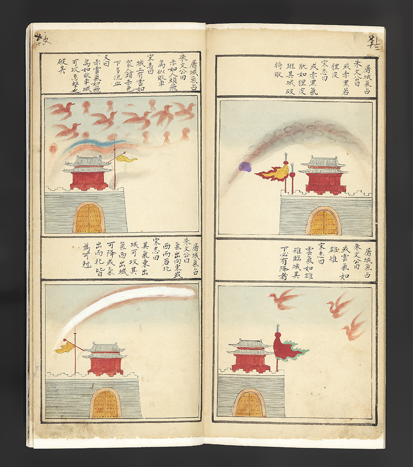 "CHINESE ASTROLOGY & PROGNOSTICATIONS.  ""Yu zhi tian yuan yu li xiang yi fu"", illustrated manuscript, 16-17th century"