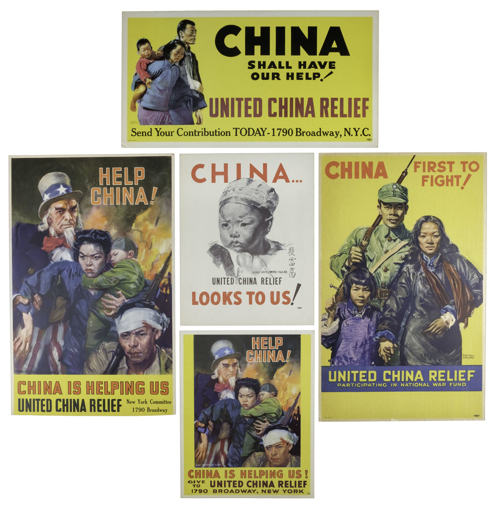 United China Relief Posters, circa 1944