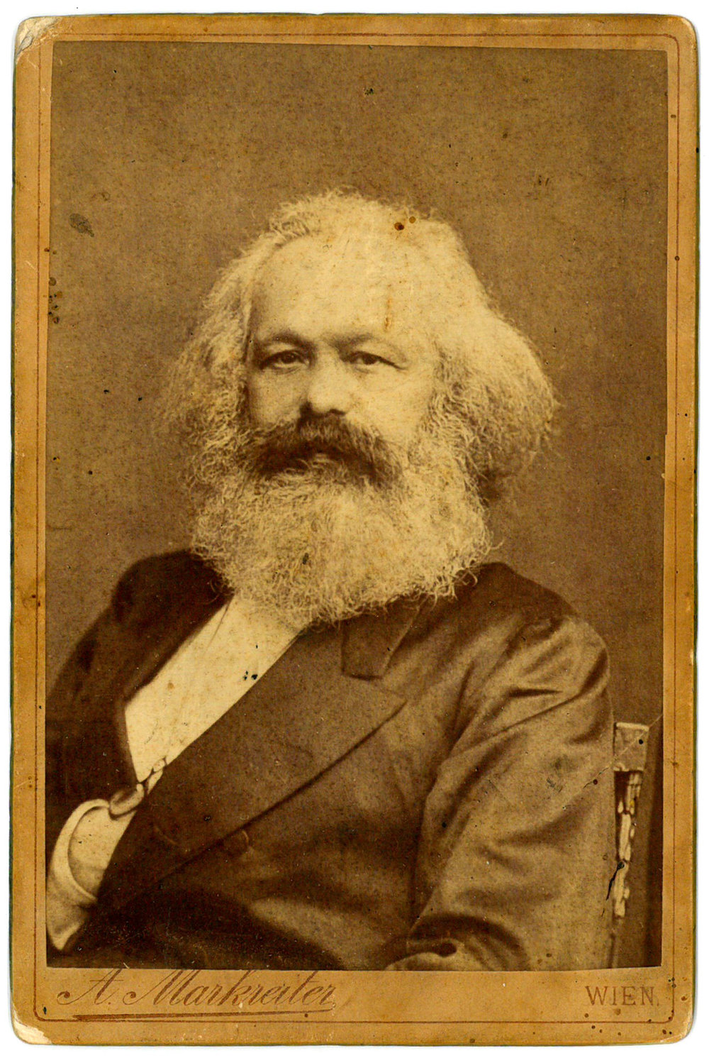 Karl Marx, philosopher and economist (1818–1883).   Portrait photograph.