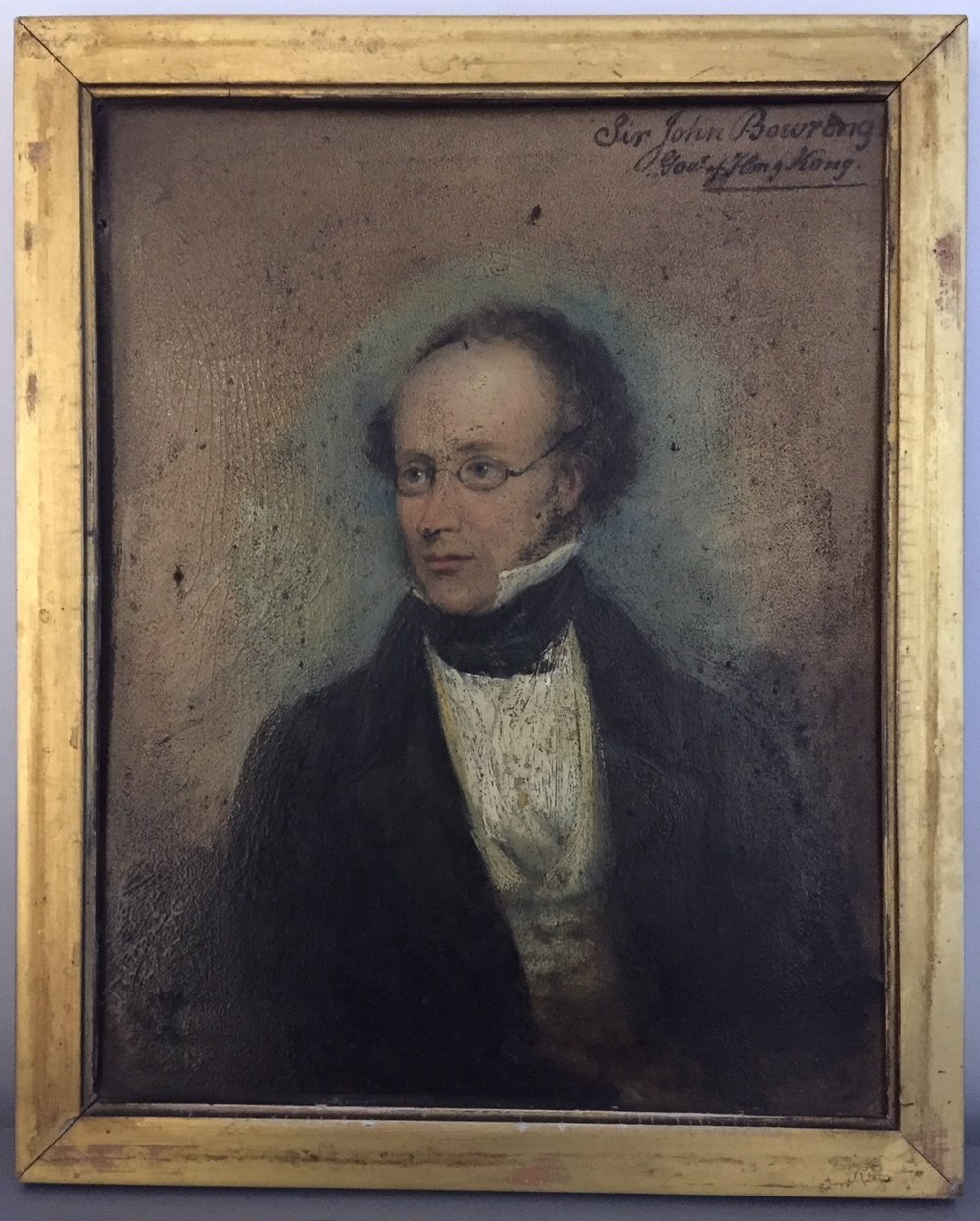 Oil painting   of Sir John Bowring, Governor of Hong Kong , 1854-9.