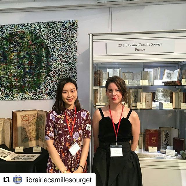 Booth 20 is buzzing - don't miss meeting Flavie and Kathy and the beautiful books from @librairiecamillesourget (@get_repost) ・・・ It has begun! China in Print 2018 is officially open and we couldn't be more glad to be here. We look forward to welcoming you at our booth 20 ✨📚 @chinainprint #hongkong #chinainprint #chinainprint2018 #luxury #art #artmarket #librairiecamillesourget #livresanciens #librairies #bibliophilie #bibliophile #books #livres #paris #livresrares #rarebooks #bookcollector #bookshop #rarebookcollector #antiquarianbookcollector #antiquebook #fair #glamour #booth20 #artfair #libros #librosantiguos