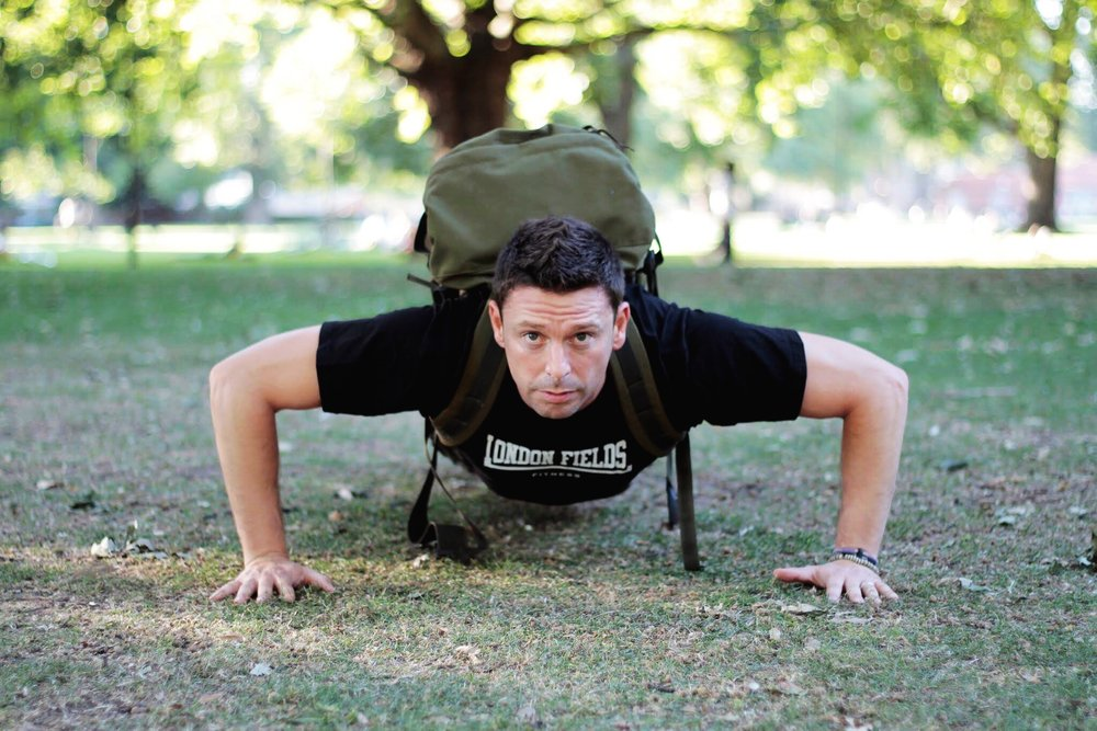 Army Boot Camp - At-tehn-tion! This is an outdoor military style boot camp set in the beautiful London Fields come rain or shine! Kick start your fitness journey with some hard core drills from military experts in wafts of smoking sausages from the BBQ area, side by side with the squirrels. Open to all levels, you will be given coloured bibs according to your ability and exercises to suit. Be prepared to get your hands (and your trainers... and maybe your shirt) dirty! Mondays & Thursdays 7pm w/Dean (60 mins)£5 Drop-in, included in the Class Pass
