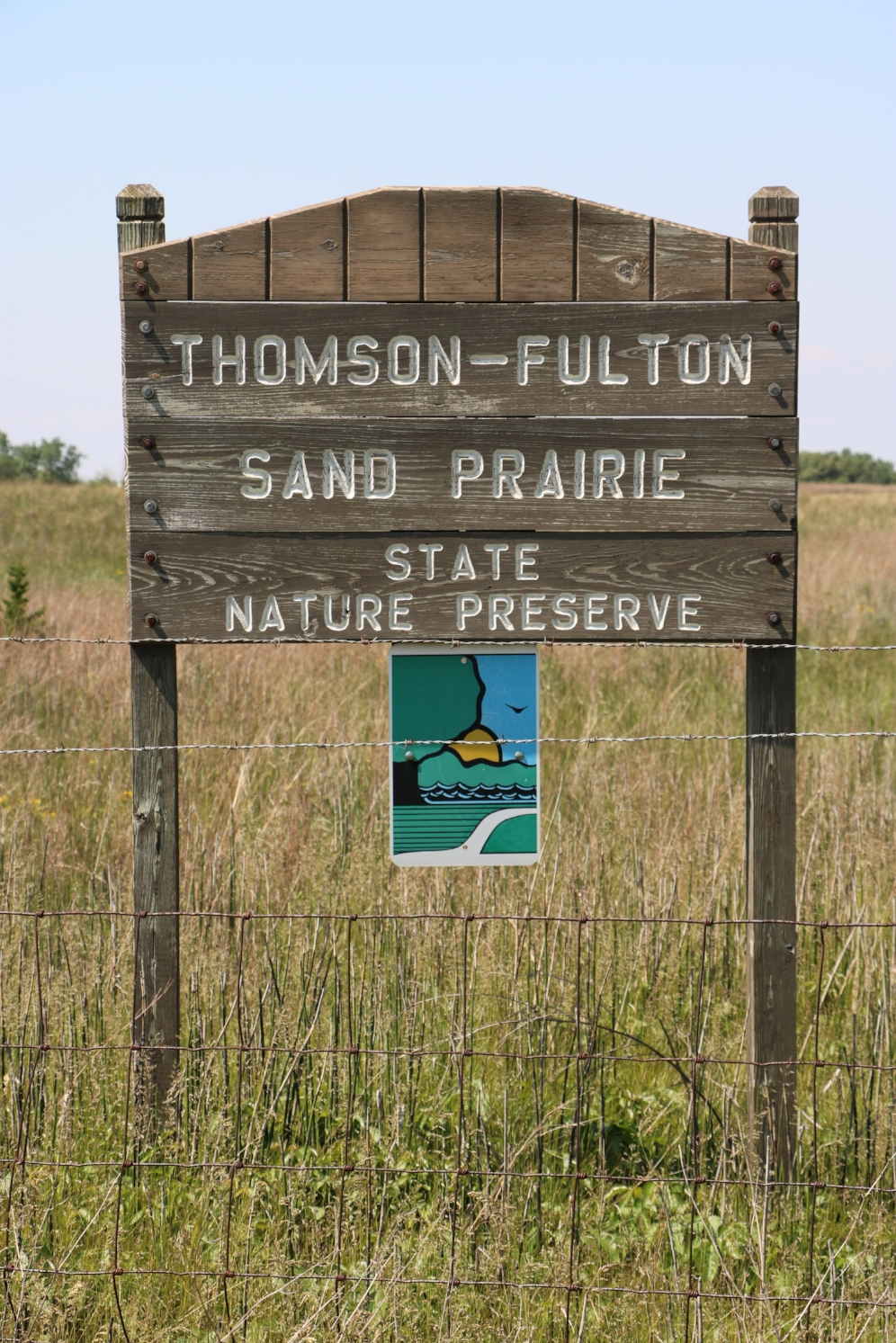 The Thomson-Fulton Sand Prairie State Nature Preserve (Whiteside County, Illinois) is owned and managed by the Illinois Department of Natural Resources. Photograph by George L. Heinrich.