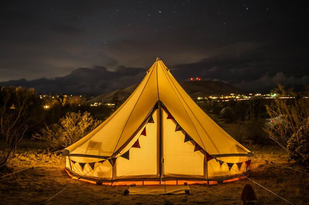 Bell glamping tents coming June 2018.