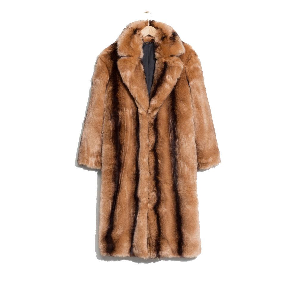 Faux Fur Coat, £165, & Other Stories