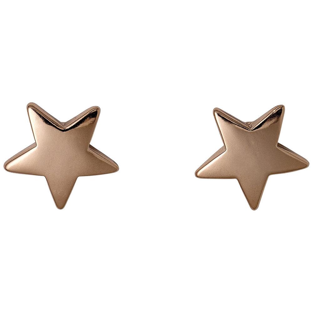 Rose Gold Plated Star Earrings, £8.99, Pilgrim