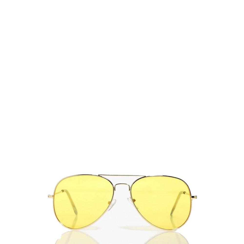 Lola Yellow Lens Aviator Glasses, £6, Boohoo