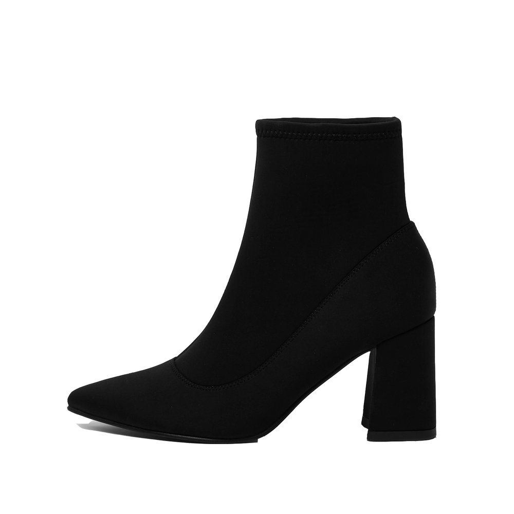Black Scuba Pointed Boots, £25, River Island