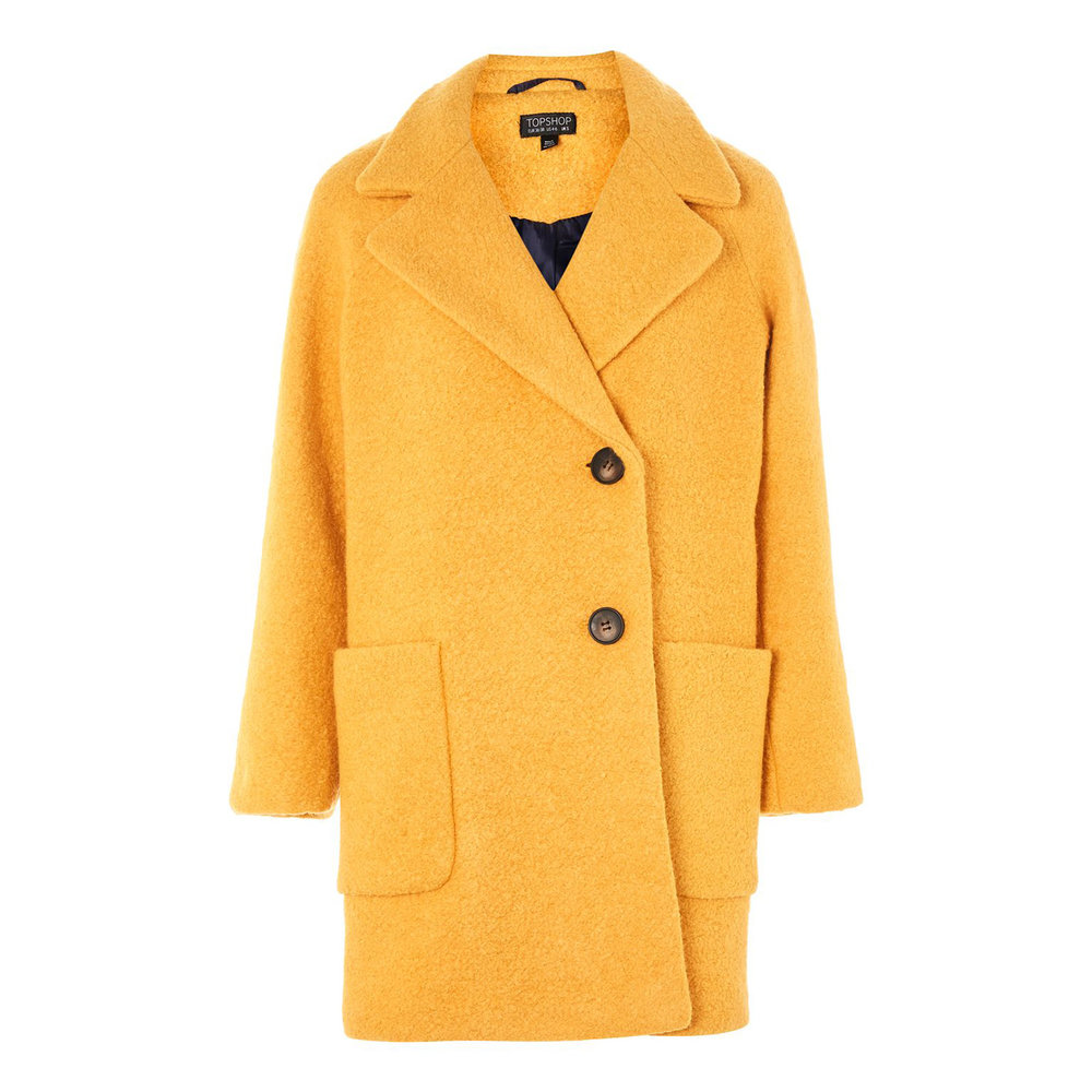 Seamed Boucle Coat, £75, Topshop