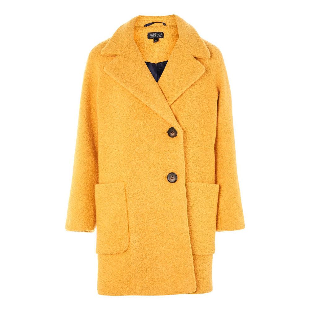 Seamed Boucle Coat, £75, Topshop