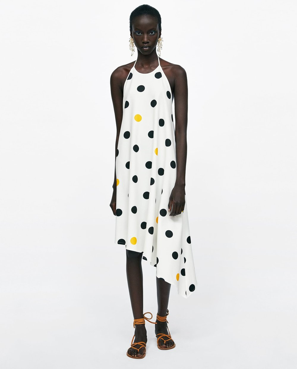 Polka Dot Halterneck Dress - Priced at £25.99, available at Zara