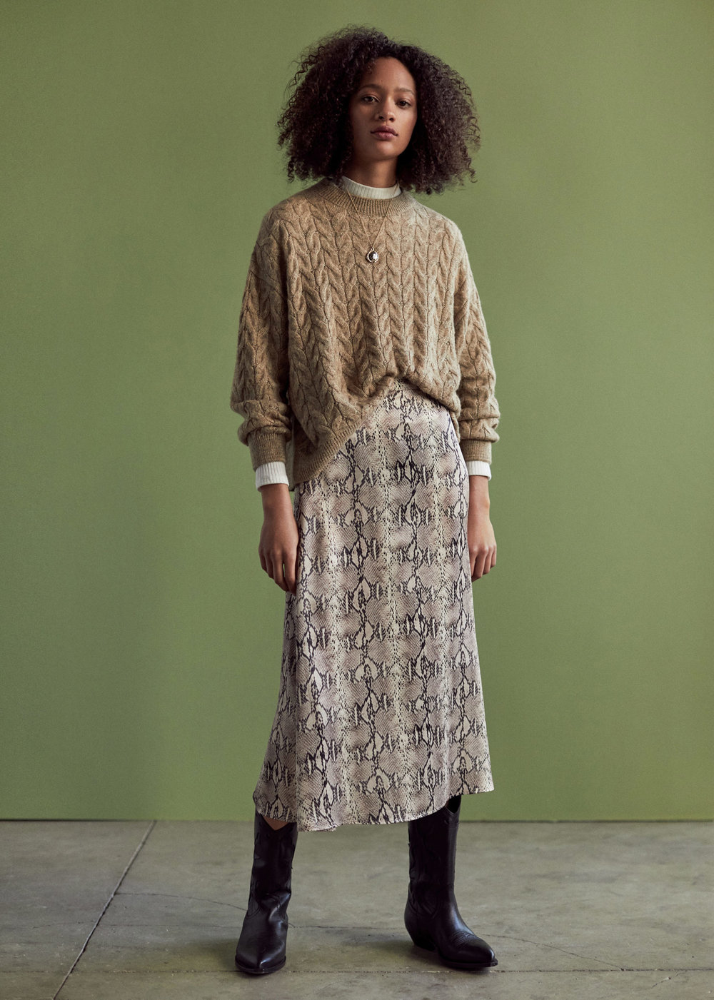 Mango Snake Print Skirt - £35.99 at MangoSlip skirts are a big thing this season and this flowy piece from Mango is a sweet way to nail two trends in one. Also, this styling is ON POINT.