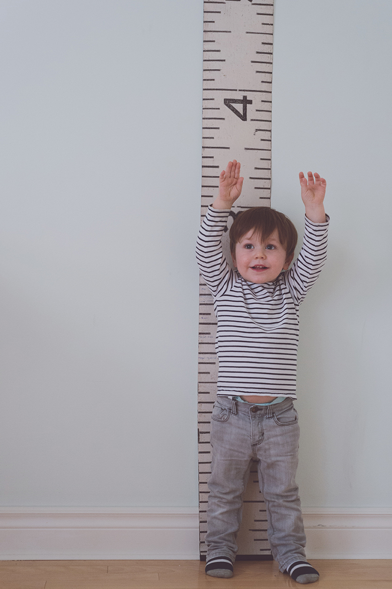 Péa les maison. Nursery decor and a lovely growth chart