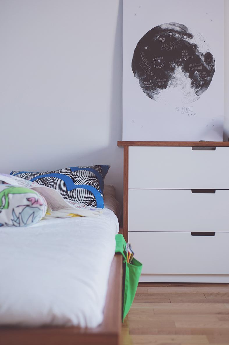 Péa les maisons. Design et décoration de chambre d'ado pour garçon sous le thème de l'espace