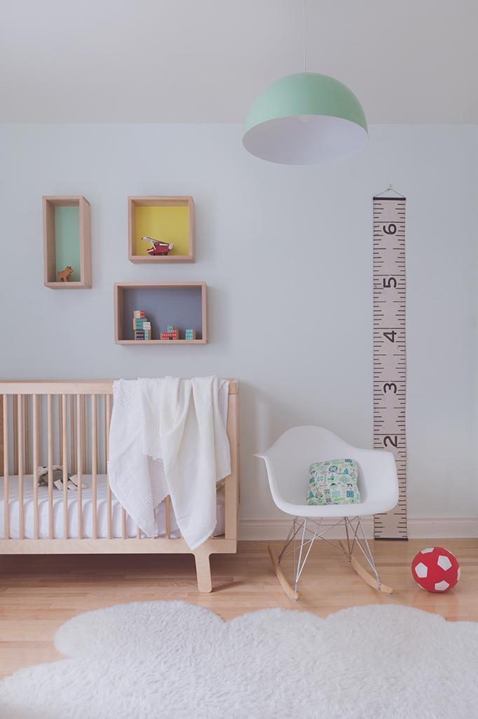 Péa les maisons. Une chambre d'enfant intemporelle et unisexe pour bébé