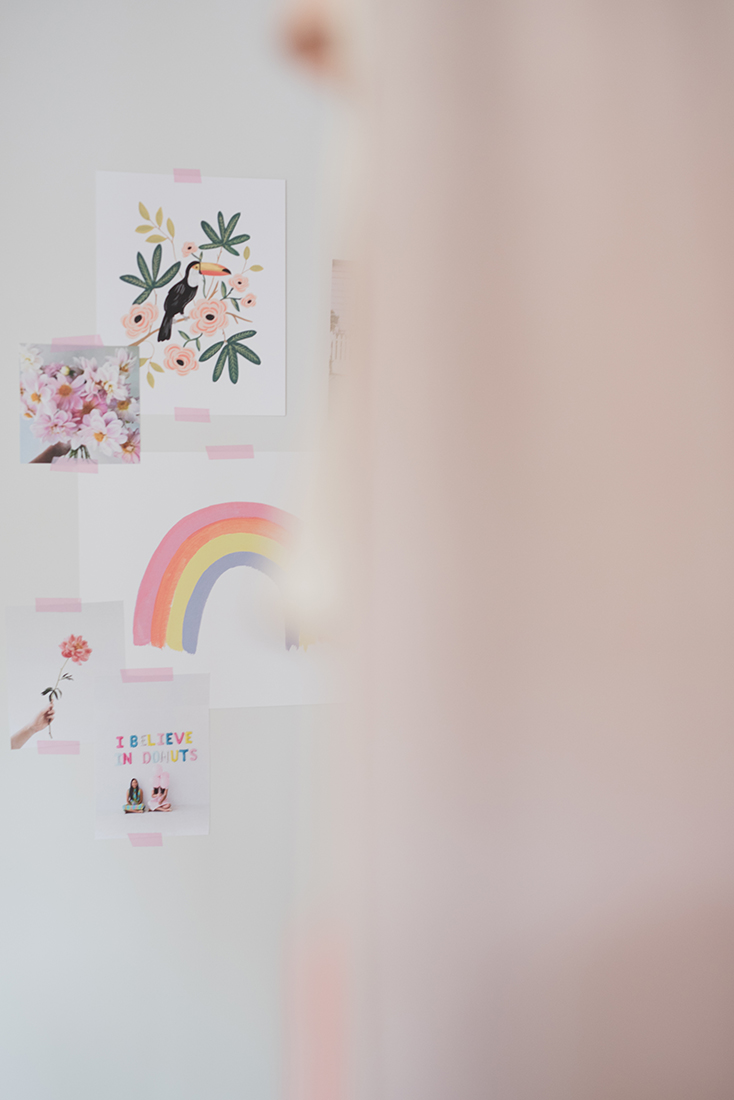 Péa les maisons. Create a moodboard with nice prints in kid's room