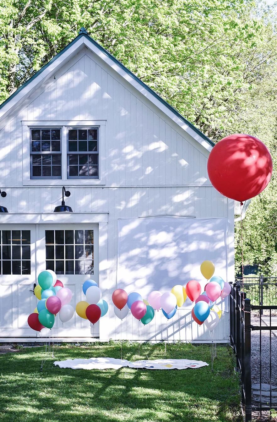 Péa les maisons. Service de décoration de fêtes d'anniversaire pour enfants