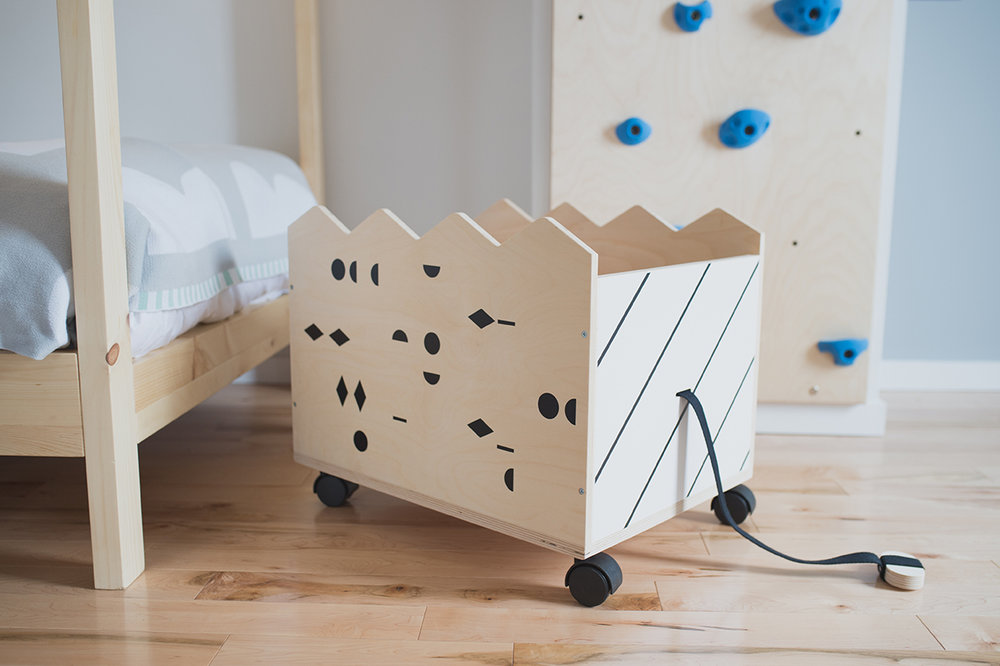 Péa les maisons. Finding the prettiest storage solution for kids rooms