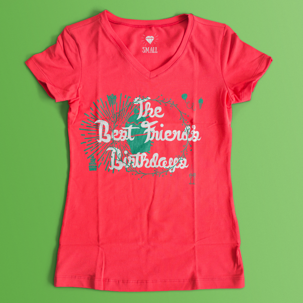 Save your fans from the bday throw up tee design!