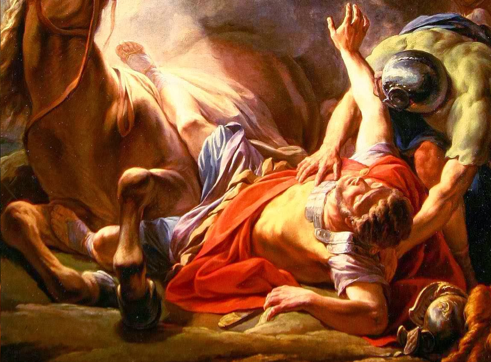 Detail,  The Conversion of Saint Paul , by Nicolas-Bernard Lépicié, 1767