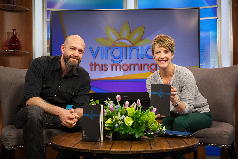photo by Adrianne Mathiowetz    For everyone who doesn't live in Virginia–or who lives in The Old Dominion but wasn't watching TV at 9a on Monday–you missed me talking about poetry, dog food, and becoming rich with absence, on  Virginia This Morning . But good news! They've posted the clip online  for your viewing pleasure .  Richmond was the first stop on my book tour, and I got into Nashville last night just in time to catch SQÜRL at Third Man Records–whom I recommend catching if you have the chance! Afterwards, I chatted briefly with Jim Jarmusch about poetry, the New York School, and Bill Knott. It's always exciting to talk about poetry with artists from other mediums. Tonight I perform in Nashville at  HAIL , at 7p. For more tour dates, check out  the full list here .