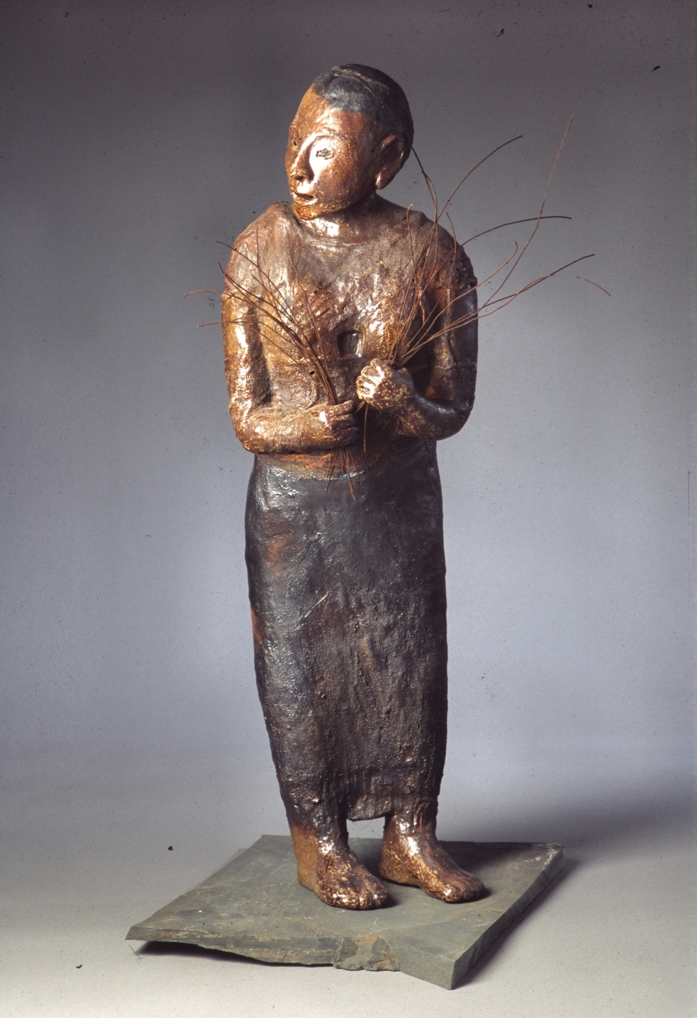 votive woman 2 - woodfired clay - 38x13x10.jpg