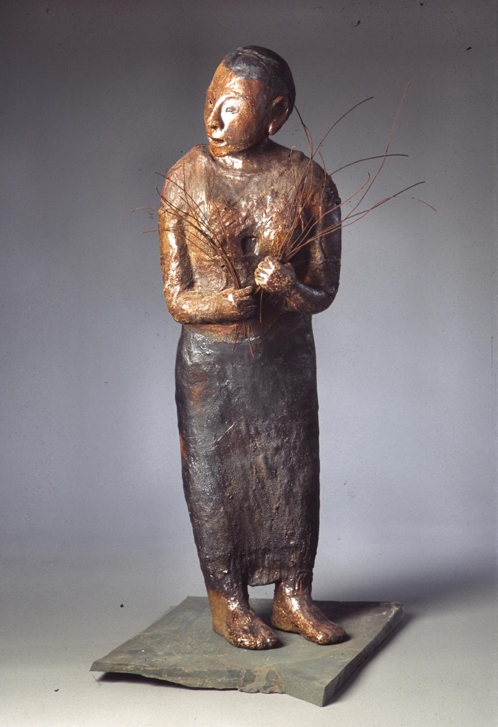 votive woman 2 - woodfired clay - 38x13x10.jpg