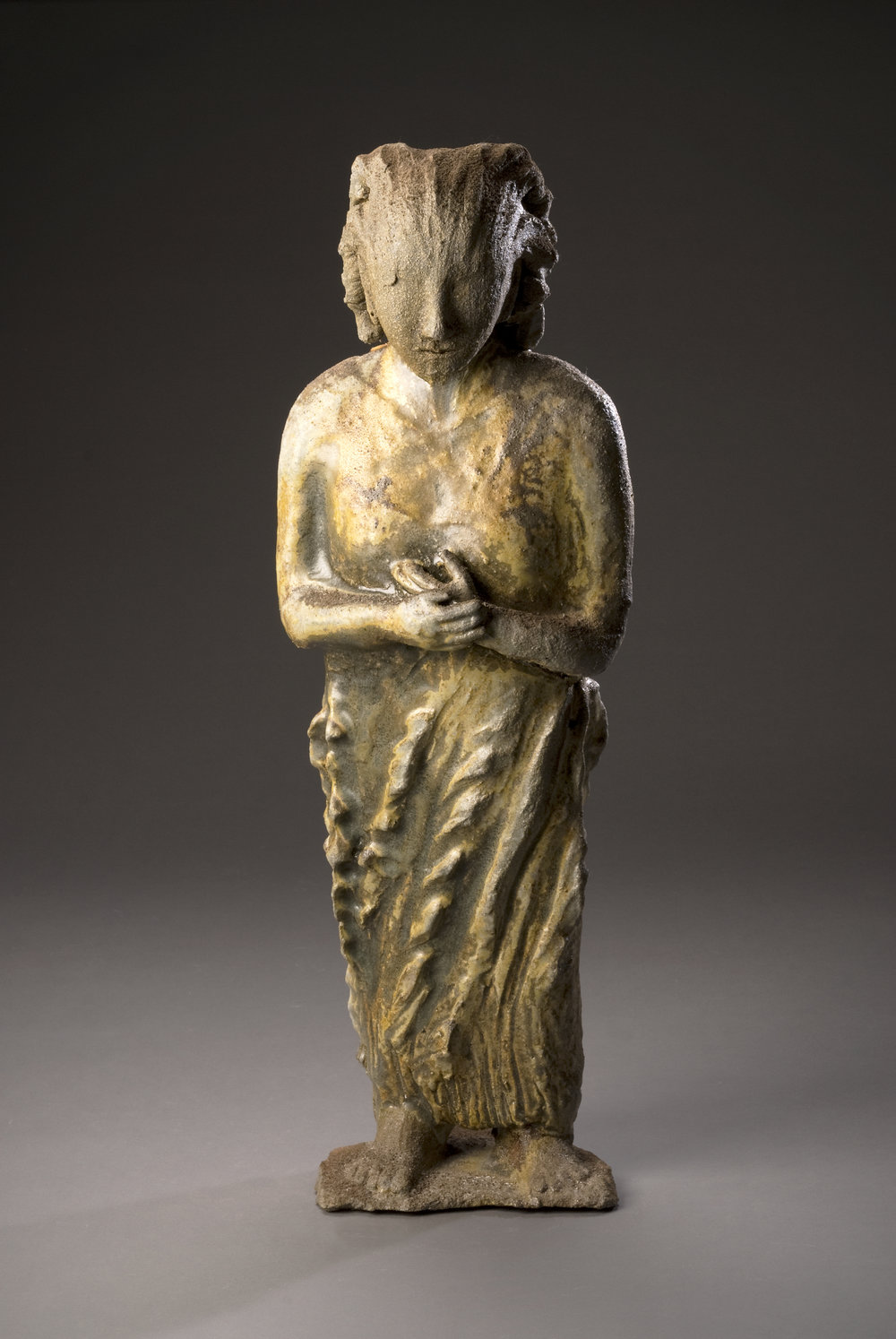 shrine figure - 3_4 view - wood-fired goldceladon -l  27%22x9%22x8%22@300.jpg