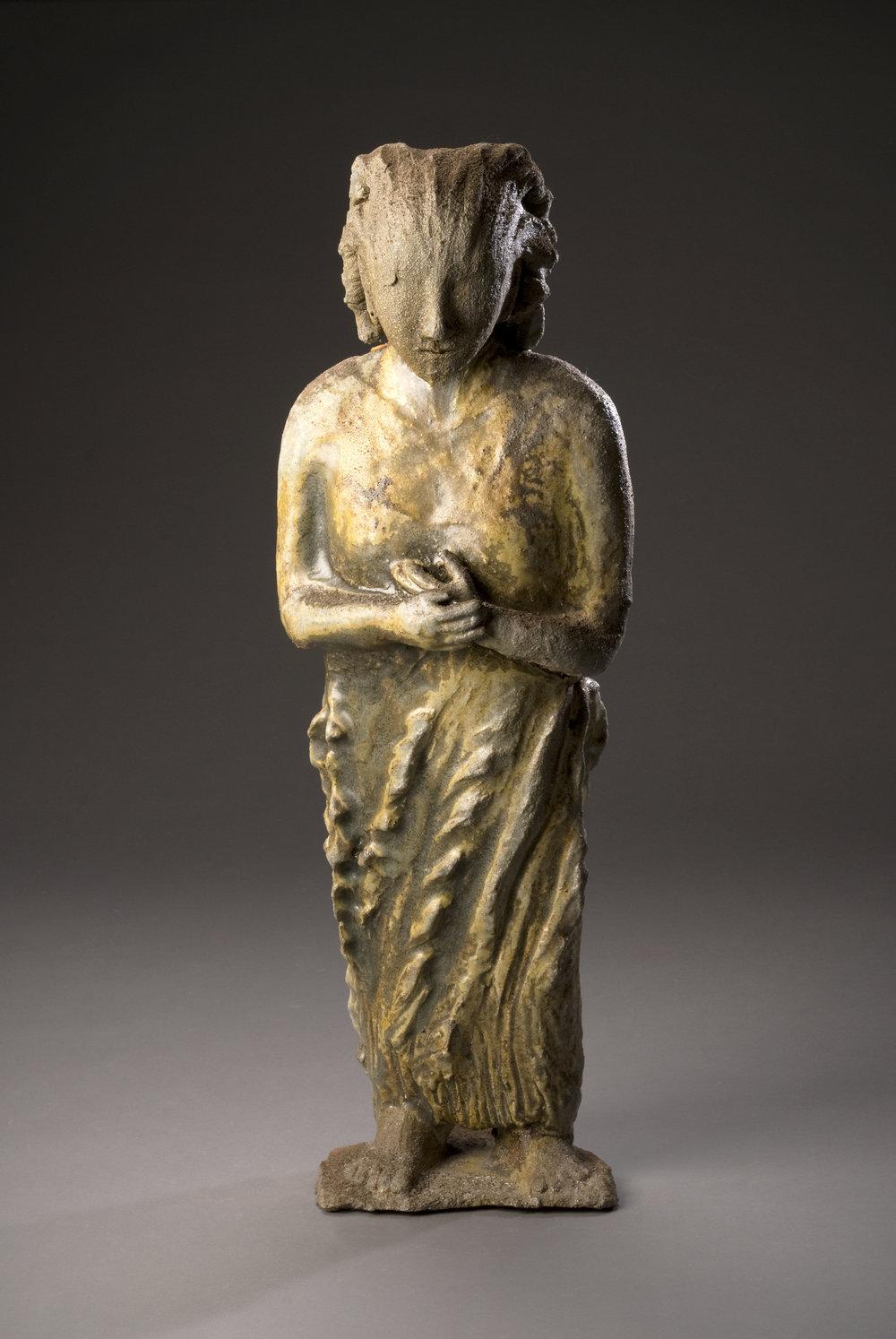 shrine figure - 3_4 view - wood-fired goldceladon -l  27%22x9%22x8%22@300.jpg